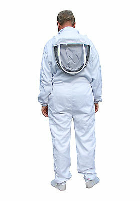 White Apiary Additions Beekeeping Bee Suit with Fencing Veil - All Sizes 2