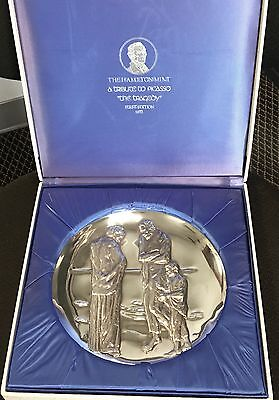 """Picasso The """"Tragedy""""  post 1940 - over 9oz of .999 Silver - Franklin Mint 3"""