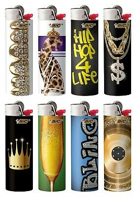 BIC Special Edition Hip Nation Series Lighters Set of 8, 2019-2020 Designs New! 3