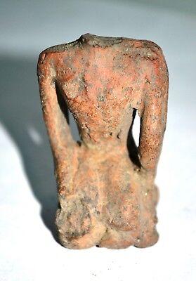 Museum Quality Original Ancient  Sukhothai Kingdom Clay Buddha Statue,13 century