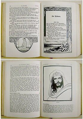 1912 SIGNED Bezalel LILIEN Luther BIBLE Jewish ART BOOK Art Nouveau JUGENDSTIL 10