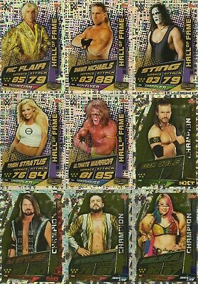 2019 WWE Slam Attax UNIVERSE - Champions & Hall of Fame cards: Buy 3 get 1 FREE 3