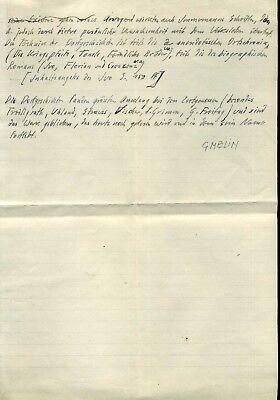 Autografo storia lh 837 Germania Gmelin Hermann dantista Dante Alighieri