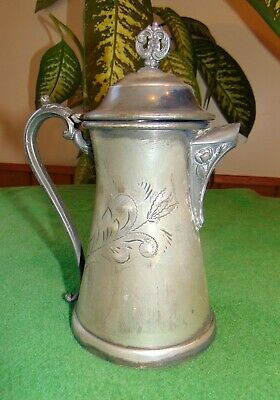 Antique Victorian Worn Imperial Taunton Mass Silver Plated SP Syrup Pitcher 1101 9