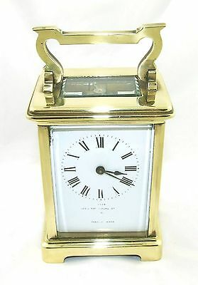 Antique Brass & Bevelled Glass Carriage Clock JAYS 142 & 144 OXFORD ST. W  (46) 2