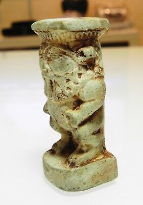 Zurqieh - As10010- Ancient Egyptian Large Faience Bes Figure. 600 - 300 B.c 2