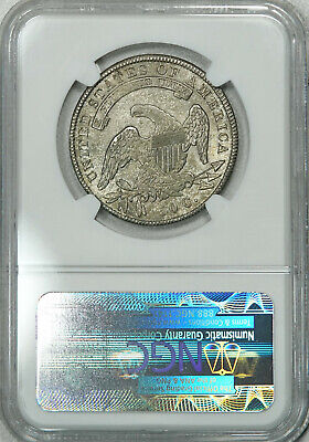 1836 NGC MS64 Bust Half, old patina with satiny luster & very few marks 2