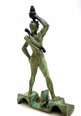 Ancient Greek Bronze Museum Statue Replica Colossus Rhodes 7 Wonders Collectable 3