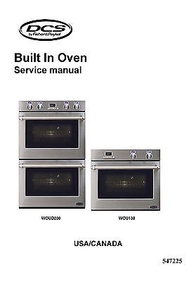 Repair manual: dcs fisher & paykel ranges & ovens chioce of 1.