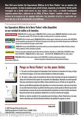 Spanish Separadores Biblicos Bible Tabs Easy Install Full Set Brand New 2
