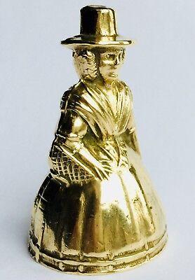 "Superb Rare Antique Miniature English Georgian (1800s) Elegant 2""/5cm Brass Bell 6"