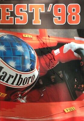 Michael Schumacher Authentic Signed Budapest 98 Poster Aftal#198 2