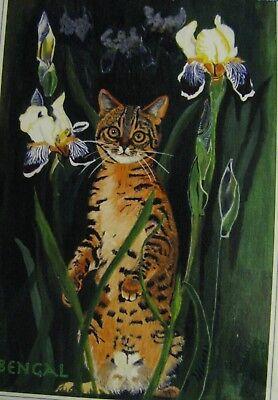 "C25     Original Acrylic Painting By Ljh     ""Javanese""       Cat Kitten 12"