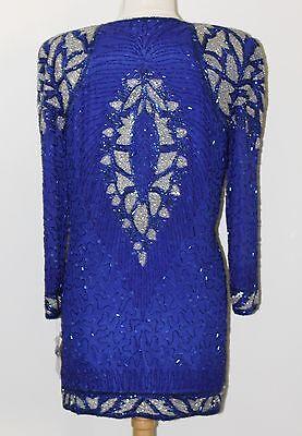 "Jasdee Vintage Jacket Hand Work Beading Length 32""Long SheerSleeve On Silk #3012 3"
