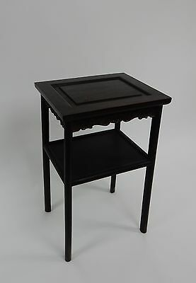 Gorgeous Antique Chinese Zitan Two tier  Wood Side Table RARE!!  28 inches 2
