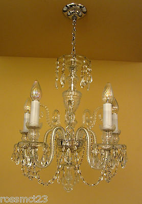 Vintage Lighting high quality Czech crystal chandelier by Weiss and Biheller 3