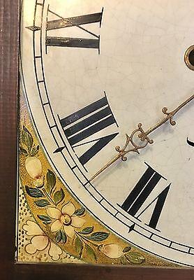 A Mahogany Grandfather Longcase Clock Rolling Moon Movement  W Jones Manchester