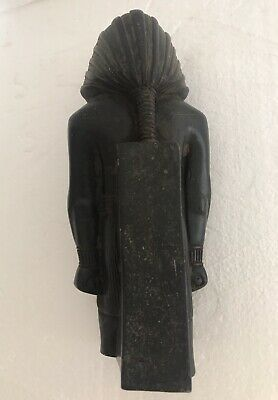 ANCIENT EGYPTIAN ANTIQUE Bronze Pharoh Signed Adele 11