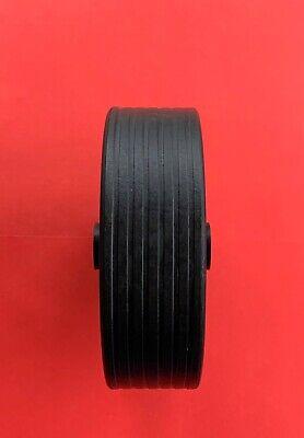 1 x Replacement 210mm Black Plastic Wheel for Jockey Wheel Van/Trailer/Caravan 3