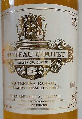 """CHÂTEAU """"COUTET"""" 2009 (3 MAGNUMS).95/100 PARKER.(Sauternes). 4"""