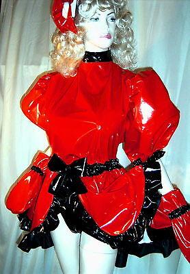 Lackminikleid,ouvert, Dienstmädchenkleid,Maiddress,Vinylskirt,Crossdresser,Gay 3