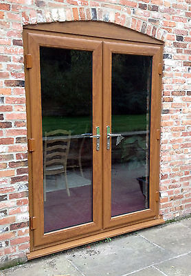 Light oak upvc french doors made to measure chrome handles silver spacer for French doors exterior upvc made to measure