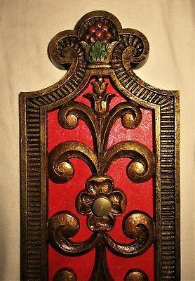 VTG  DECO / NOUVEAU ERA CAST BRASS ORNATE SCONCE WALL FIXTURE CHANDELIER 1930's 4