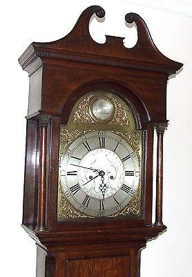Antique 8 Day Oak Longcase Grandfather Clock Atkinson of GATESHEAD : Centre Date 4