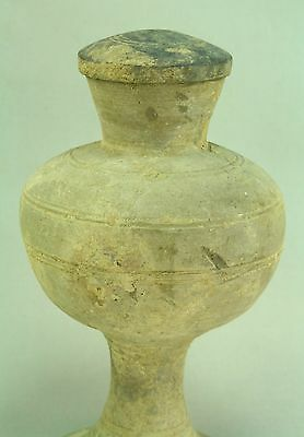 ! 206 BC– 20 AD HAN DYNASTY China Ritual Covered Vessel Earthenware 11""