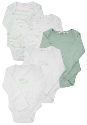 Ex Store 5 Pack of Baby Long Sleeved Bodysuits 2