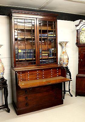 A Georgian Mahogany Secretaire Bookcase 4