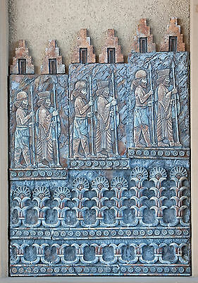 Iranian Persion Wall stone relief sculpture art Plaque Solder of Eastern Queen 2