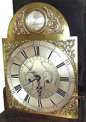 Antique 8 Day Oak Longcase Grandfather Clock Atkinson of GATESHEAD : Centre Date 5