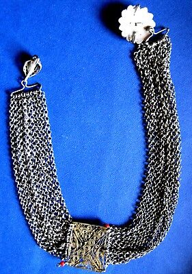 OTTOMAN SILVER Adornment KYUSTEK or PENDANT & STONE , Hand crafted chains 2