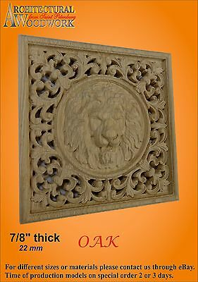 Wooden carved decor with Lion Head 3