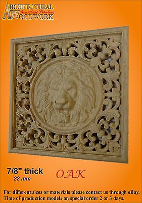 Wooden carved decor with Lion Head 2