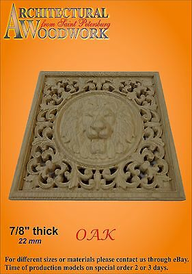 Wooden carved decor with Lion Head 4