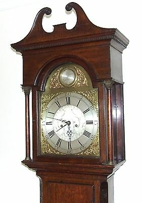 Antique 8 Day Oak Longcase Grandfather Clock Atkinson of GATESHEAD : Centre Date