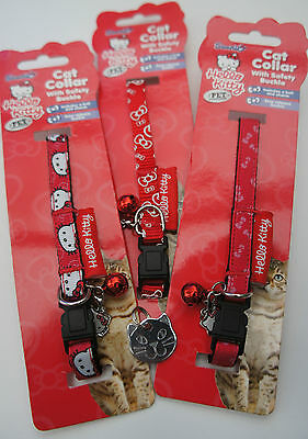 Hello Kitty Cat Collars With Engraved Cat Face Tag, Bell & Hello Kitty Charm 4