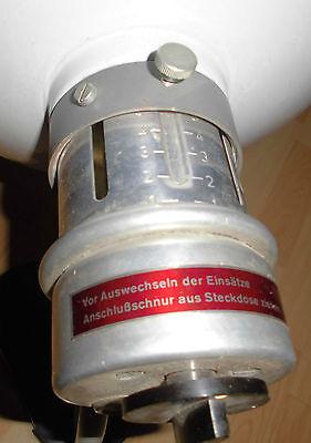 arzt tisch / wand lampe wärme alt top deko strahler thermolite super 60 / 70er 11