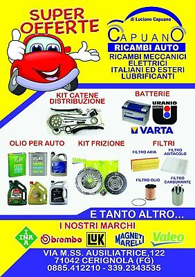 Kit Tagliando Fiat Punto Evo Gpl 1.4 8V 57Kw 77Cv + Olio Selenia Multip. Gas 6
