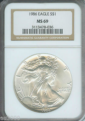 1986-2019 American Silver Eagle ASE S$1 NGC MS69 FULL 34-Coin SET & 2 NGC Boxes 2