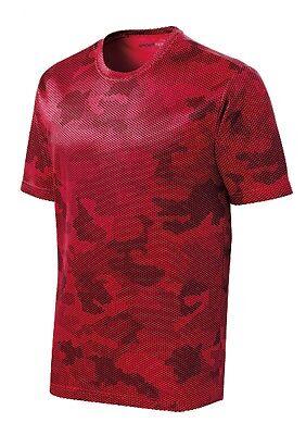 *NEW*SportTek DriFit T-Shirt Workout Performance Moisture Wicking Camo Hex ST370 10