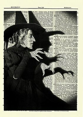"""Naked Woman Witch Casting Magick Spell Art Nude Sorceress 8.5x11/"""" Photo Print"""