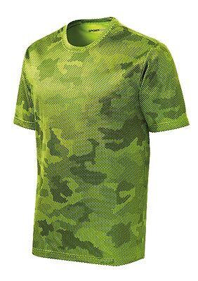 *NEW*SportTek DriFit T-Shirt Workout Performance Moisture Wicking Camo Hex ST370 5
