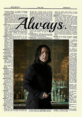 0a99e5477 ... Severus Snape Harry Potter Dictionary Art Print Picture Always Alan  Rickman 2