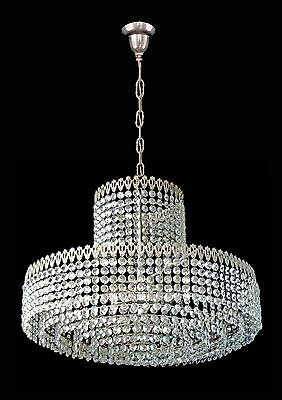 Elegant Large 8 Tier Crystal Beads Wedding Cake Bakalowits Era Chrome Chandelier 7