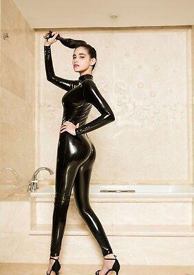 Completo Tuta Mistress Cavallo Aperto Latex Aderente Clubwear Dominatrice Lucido 7
