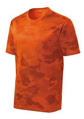 *NEW*SportTek DriFit T-Shirt Workout Performance Moisture Wicking Camo Hex ST370 7
