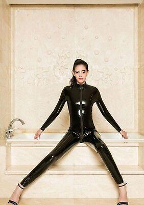Completo Tuta Mistress Cavallo Aperto Latex Aderente Clubwear Dominatrice Lucido 4